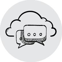 mensajería colaboración y gestión de base de datos